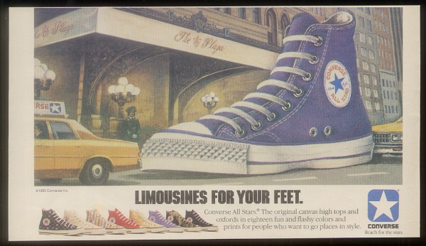 converse all stars made in the u s a  limousines for your feet 1985   defy  new york