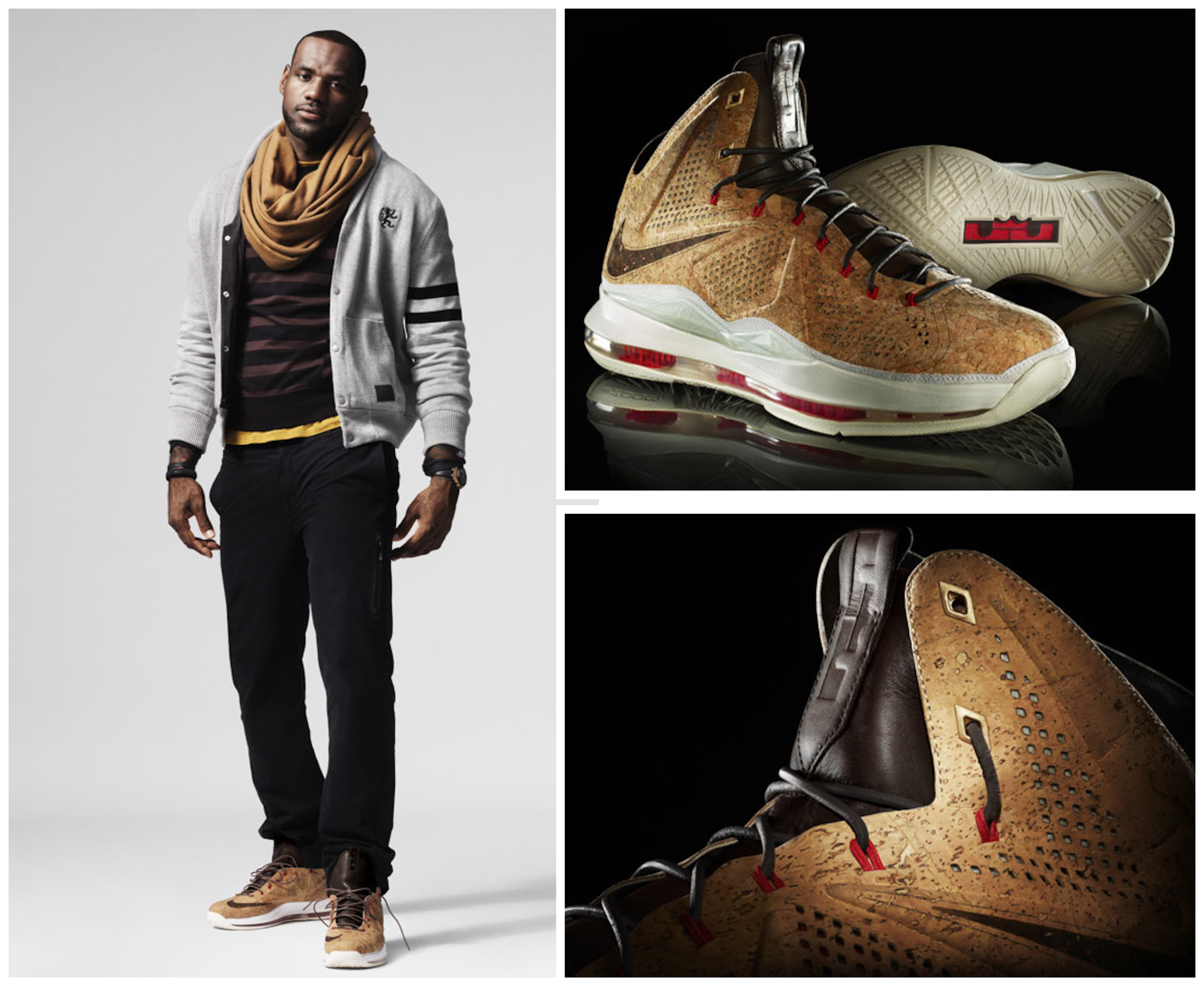 san francisco 48f54 4c1b7 Another Look at Nike LeBron X Cork That8217s Slated for December .. nike  sportswear lebron james diamond collection ...