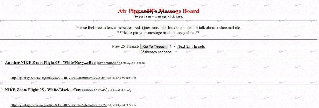 air pippen 18 message board