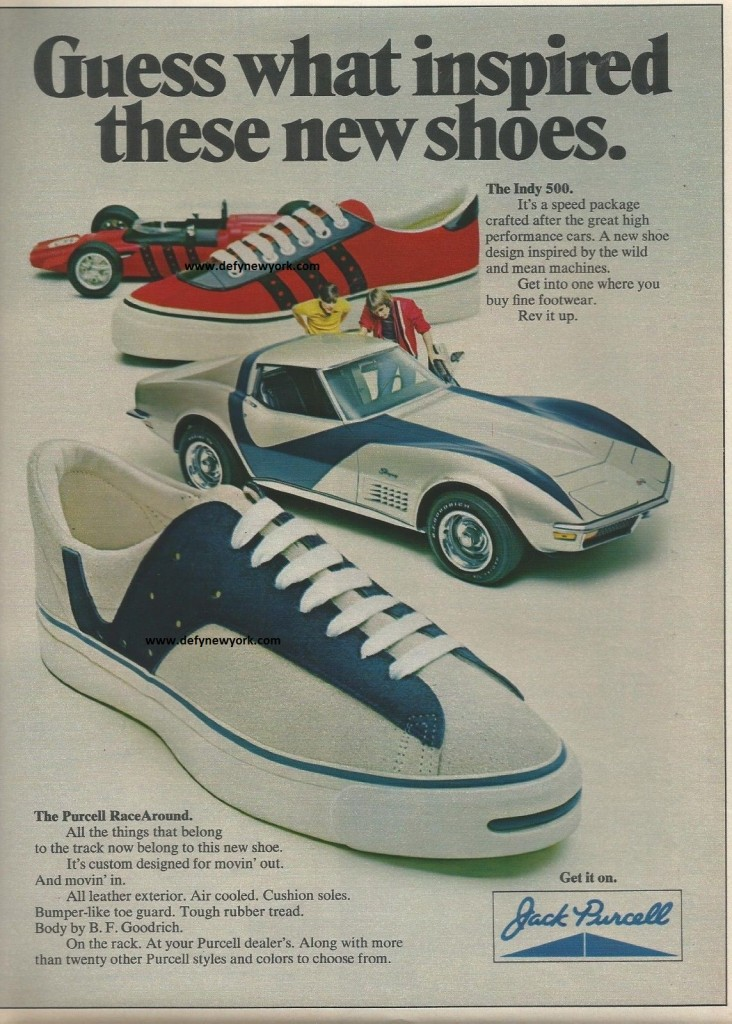 jack purcell race around sneakers 1972