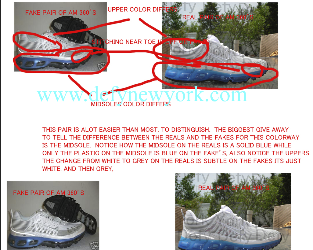 sports shoes 64df0 682d7 Nike Air Max 360 I 2006 Real Vs. Fake Tutorial Best RealFake Tutorial On  The Web For The Air Max 360 I! PART 1  DeFY. New  York-Sneakers,Music,Fashion ...