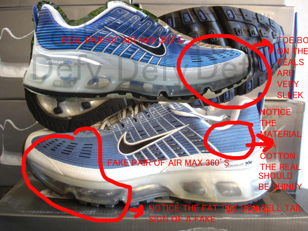 sports shoes 8075f 5ec58 Nike Air Max 360 I 2006 Real Vs. Fake Tutorial Best RealFake Tutorial On  The Web For The Air Max 360 I! PART 1  DeFY. New  York-Sneakers,Music,Fashion ...