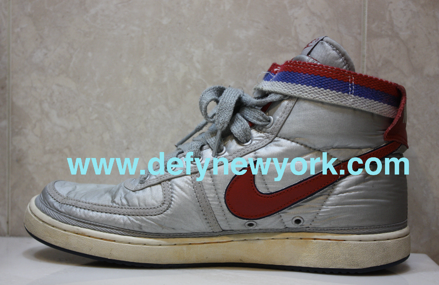 quality design fa2eb d2476 ... and aged by Nike to give them that vintage look even though they are  new. This shoe definitely commands respect, check out the pictures from the  DeFY.