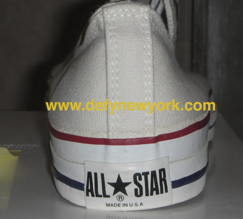 Converse All Star 1990′s Made In The USA Chuck Taylor Optical White