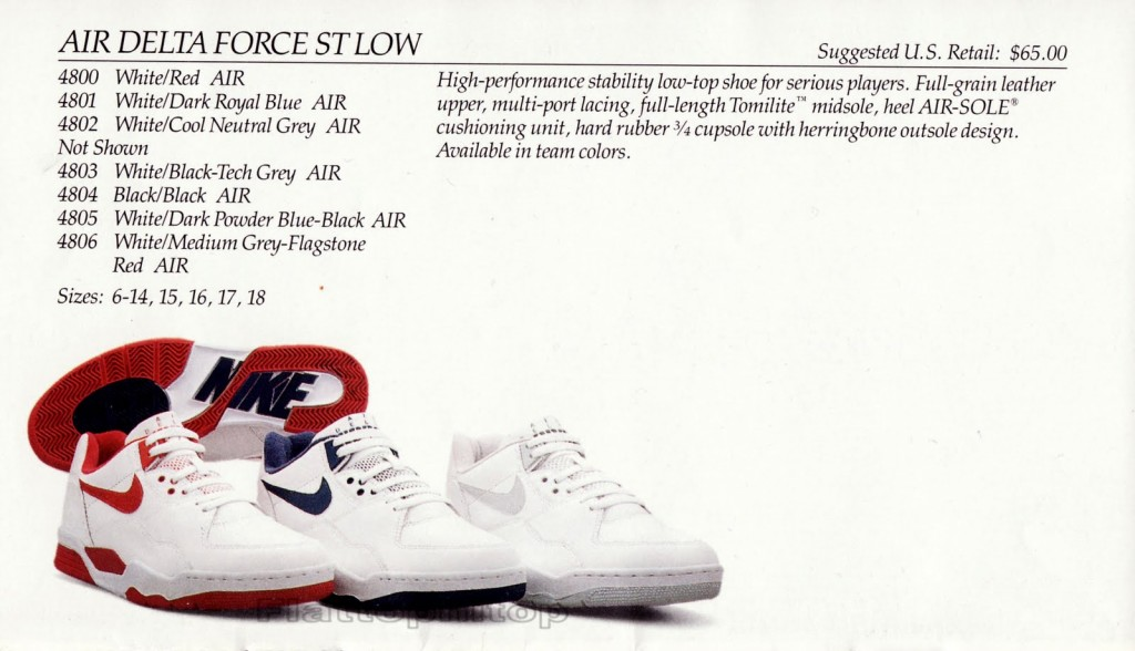 hot sale online 20e91 2d98f Nike Air Delta Force ST High, Low,  34 1989  DeFY. New York