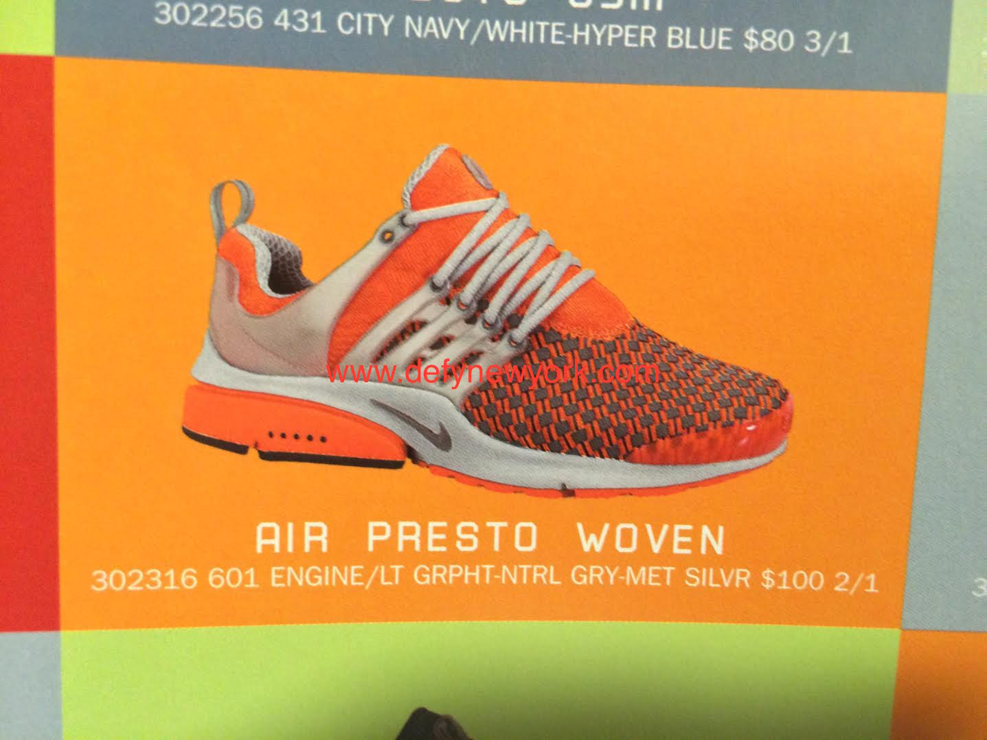 new style lace up in best sell Nike Air Presto Woven 2002 Orange – DeFY. New York-Sneakers ...