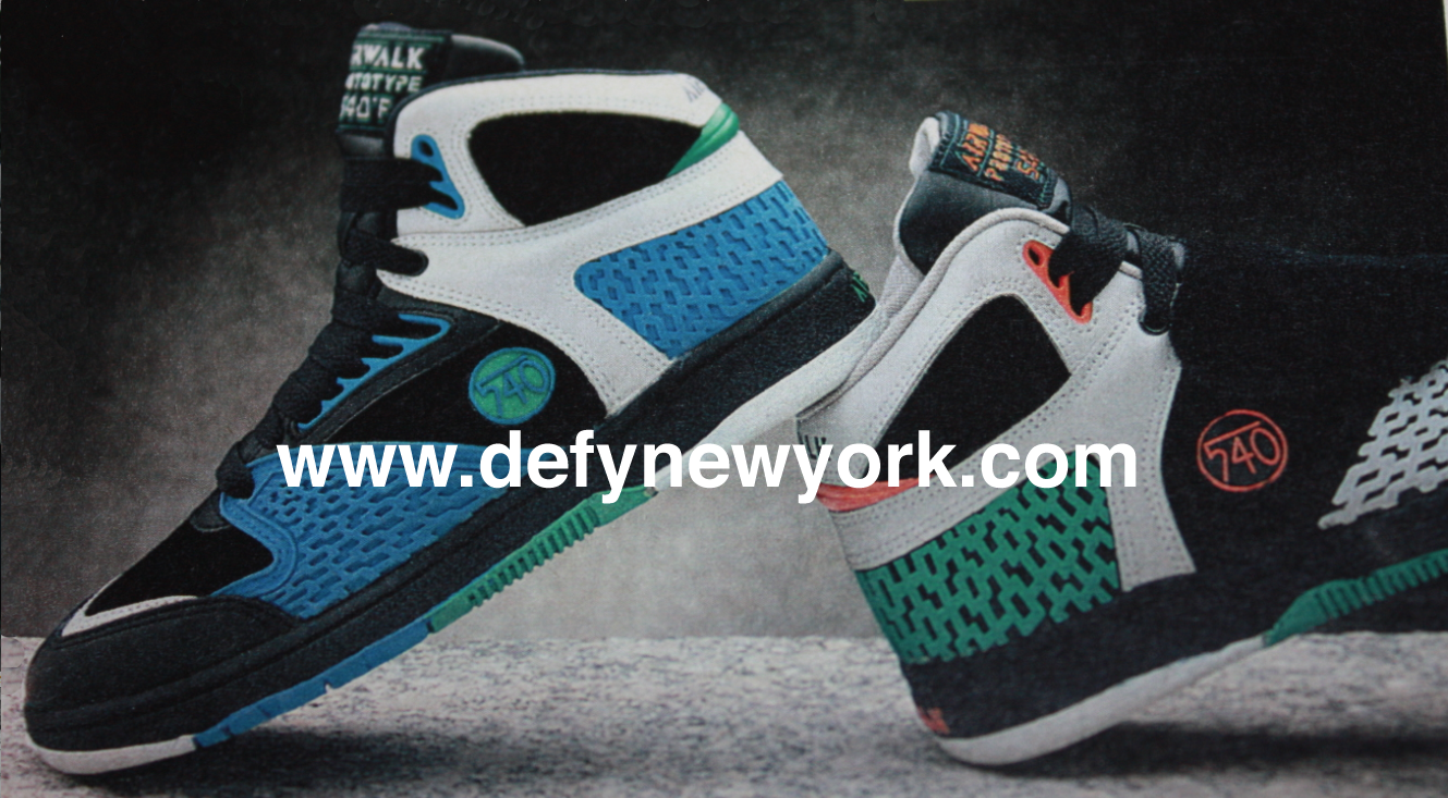 airwalk prototype 540 f with and without lace protector flap original 1990   defy  new york