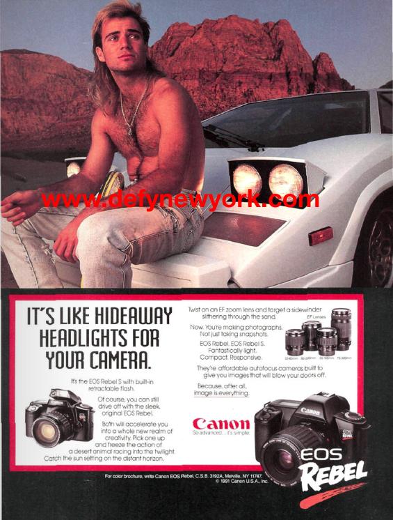 Canon Eos Rebel X Andre Agassi X Lamborghini Countach 1989