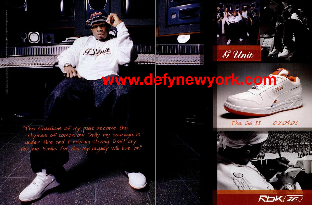 Reebok G-Unit 50 Cent G6 II 2005 : DeFY. New York-Sneakers ...