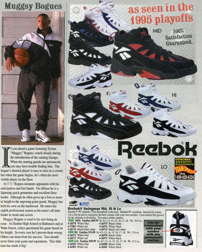 new product 5f5bd 10274 Reebok Swingman Basketball Sneaker Muggsy Bogues   Sam Cassell 1995 ...