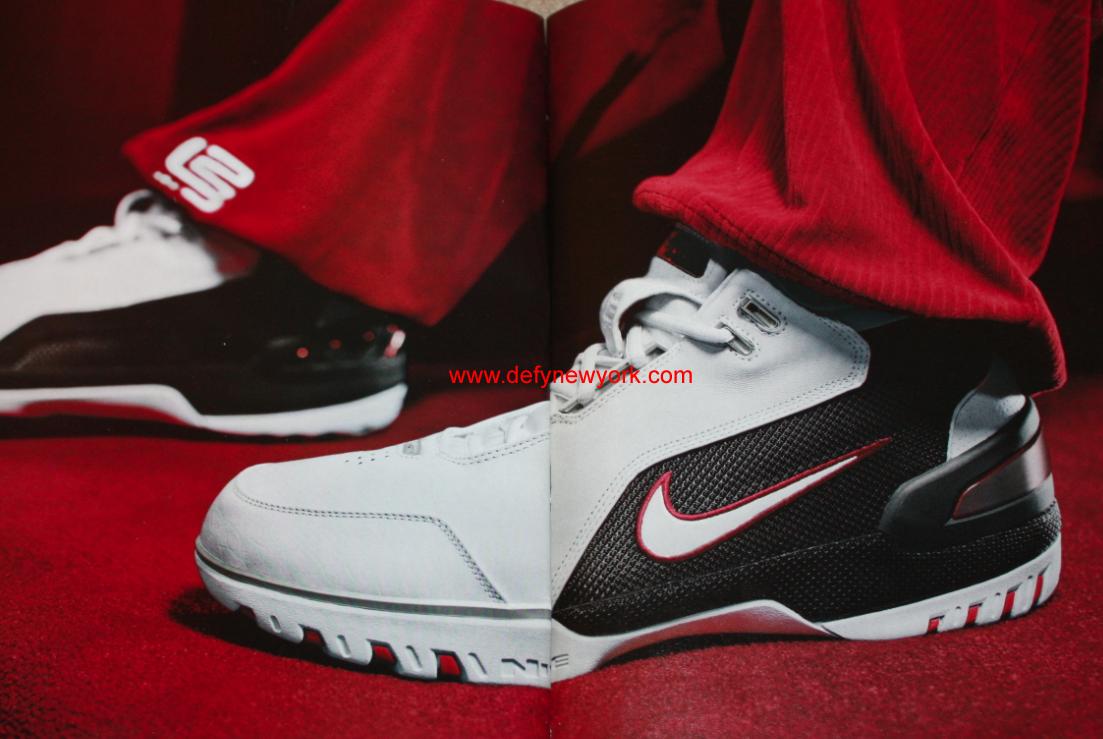 1b26282f458b4 Nike Air Zoom Generation 1 I Lebron James White Black Red 2003 ...