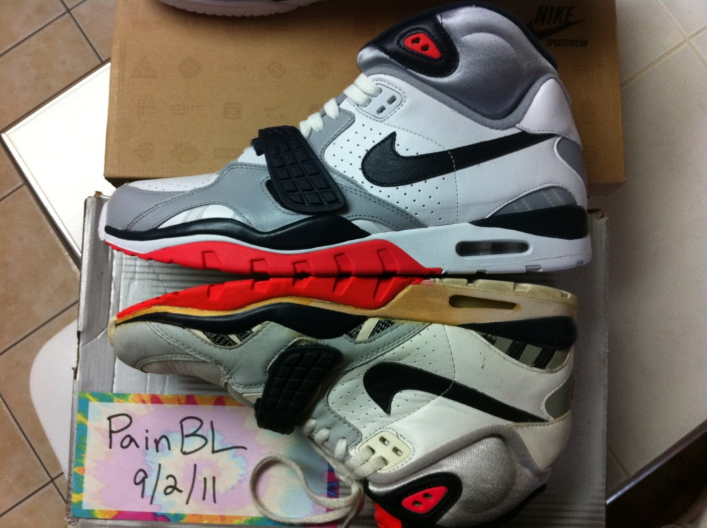 Nike Air Trainer SC II Infrared Original 1989 Vs. Trainer SC II Infrared  Retro QS 96dd3d5e383e