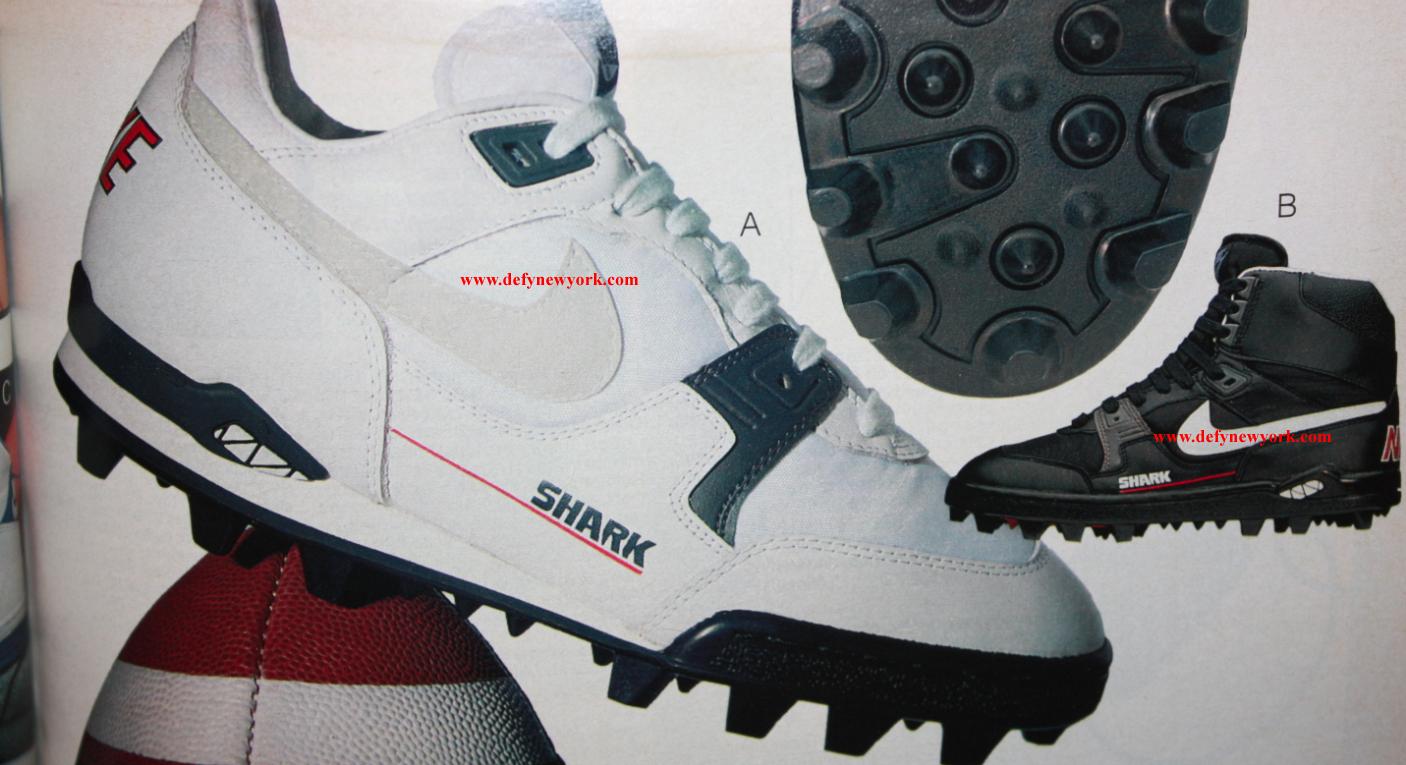 Nike Grid Shark Low Shark High Football Cleat 1990