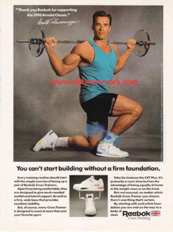 Reebok CXT Plus Cross Training Sneaker Energy Return ... Arnold Schwarzenegger Google