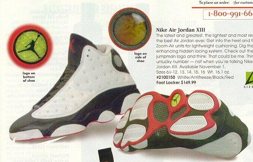 best website a7161 c8ba3 Nike Air Jordan XIII White Black Red Original Release Basketball ...