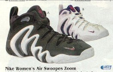 Nike Women s Air Swoopes Zoom Basketball Shoe (Cheryl Swoopes) 1997 ... 98d3609efe