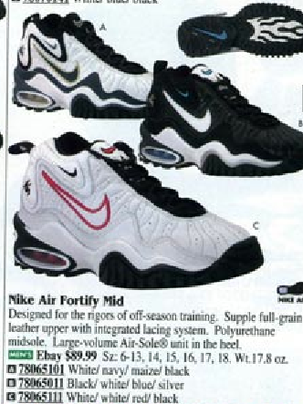 on sale 7682b 5880d Nike Air Fortify Mid Off-season Training Shoe 1998