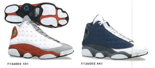 Nike Air Jordan XIII Original Grey Toe   Tongue Red Sample 1997 1998 ... e1645d2d5