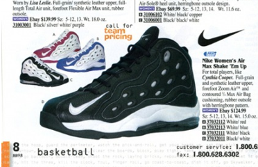 c0a64830153d Nike Air Max Shake  Em Up Women s Basketball Sneaker Cynthia Cooper 1998