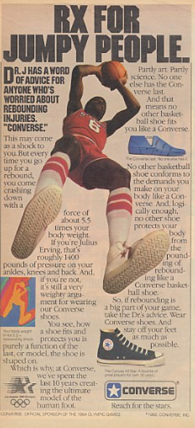 12ef78a8fd6 Converse Dr J Julius Erving 1982 – DeFY. New York-Sneakers
