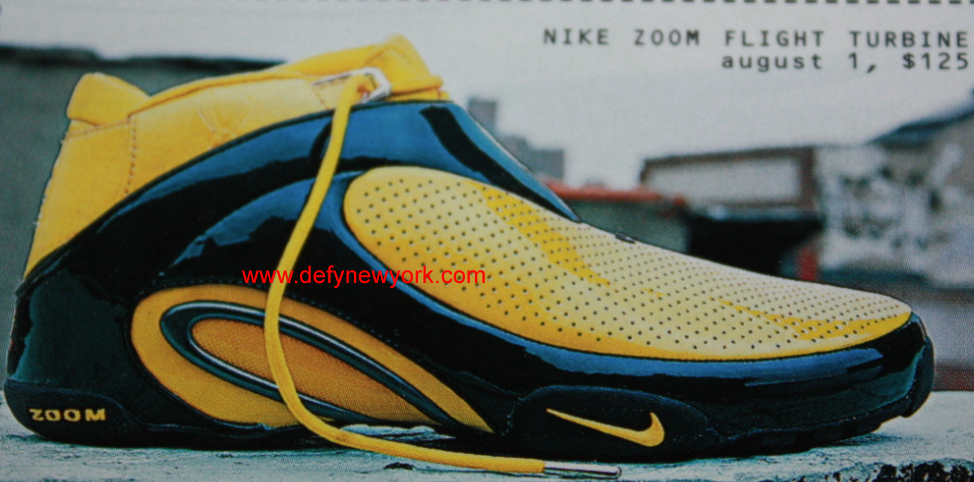 Nike Air Zoom Flight Turbine Yellow 2002 : DeFY. New York ...