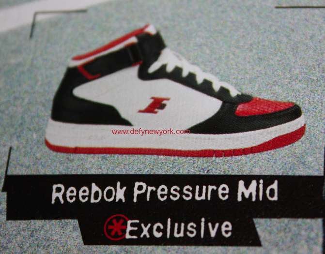 9496fde2cac Reebok Pressure Mid Basketball Shoe Iverson White Black Red 2003 ...