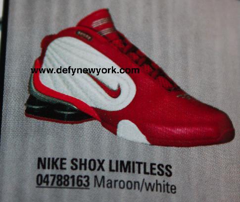 online store c89c2 b25bf Nike Shox Limitless Basketball Shoe White Maroon 2002