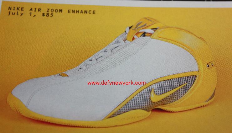 the latest d98b2 160b9 Nike Air Zoom Enhance Basketball Shoe 2004