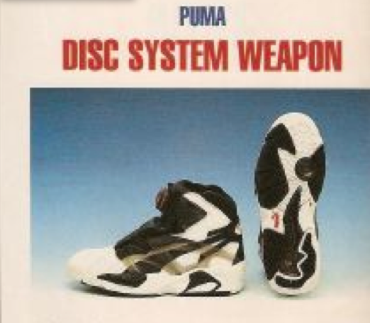 Puma Disc System Weapon Basketball Shoe Cedric Ceballos 1991