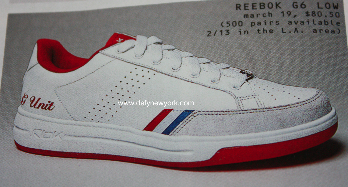 c02c6b15fffd5f ... Reebok G6 Low Sneakers G-Unit 50 Cent White Red 2004 Buy ...