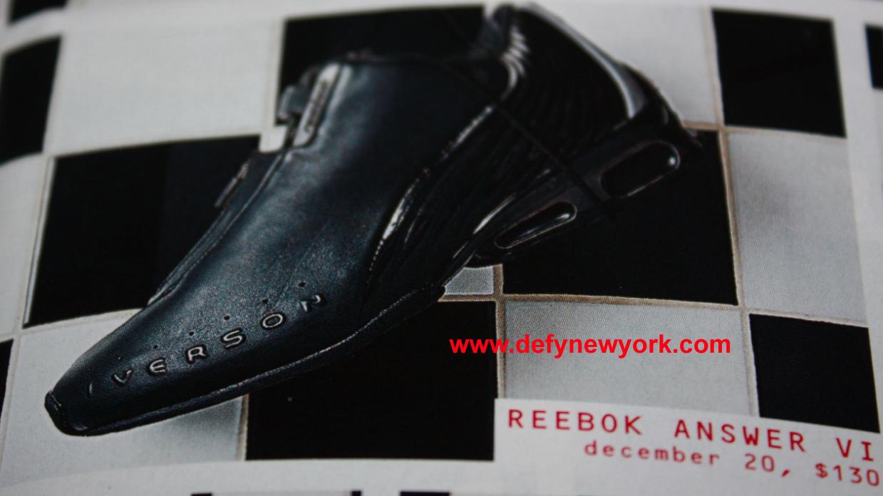 Reebok The Answer VI Black/Black Allen Iverson 2002 : DeFY ...