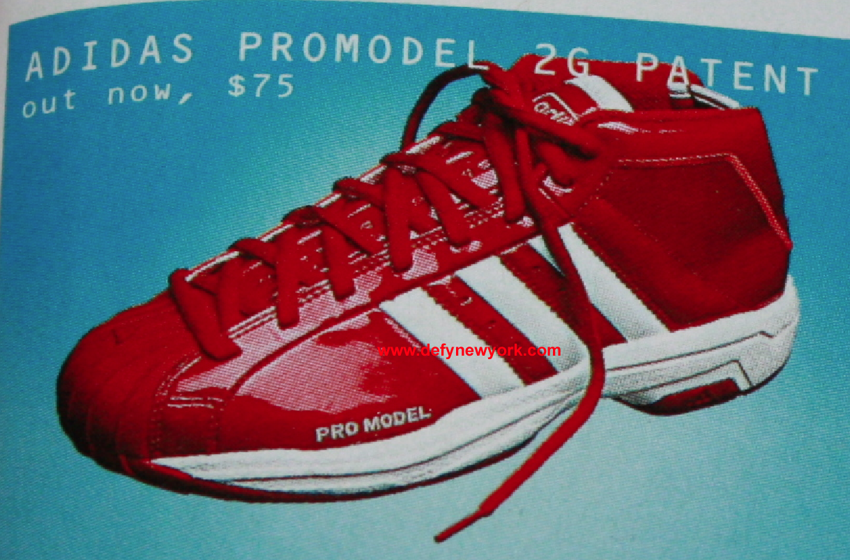 inexpensive adidas sneakers pro model sneaker b8ee8 b300f  germany adidas  promodel 2g patent leather red white 2002 38c8f 73f52 d27380e3a