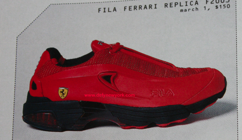 a2e6c7292b2d FILA Ferrari Replica F2003 Sneaker Black Red 2002 – DeFY. New York ...