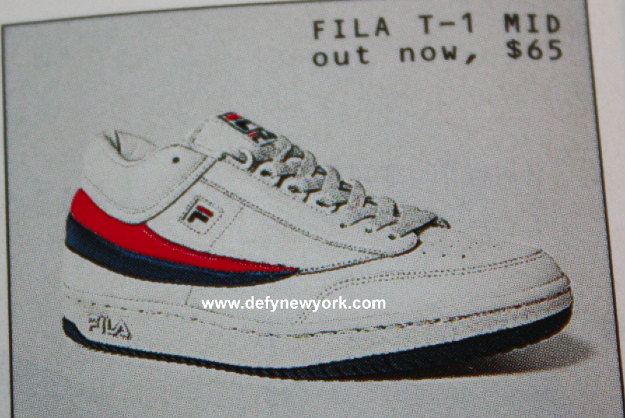 7d7d593b4e11 FILA T-1 Mid Tennis Shoe Retro 2002 – DeFY. New York-Sneakers