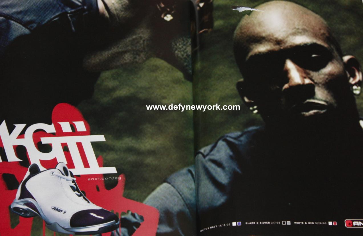 e8aca9d8292e And1 And 1 KG Kevin Garnett II Basketball Shoe White Navy 2002 ...