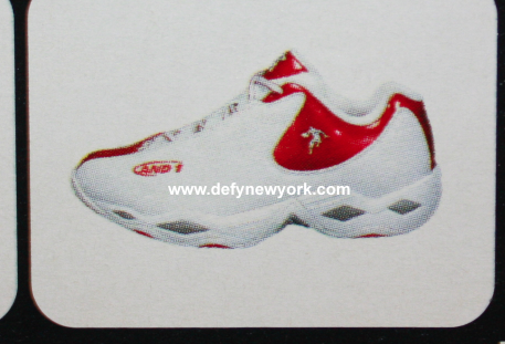 And1 And 1 24 Karat White Red Basket Ball Shoe 2002 – DeFY