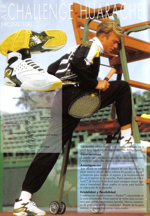 best website d63f5 f0efe Nike Air Tech Challenge Huarache Andre Agassi Sig Shoe 1992