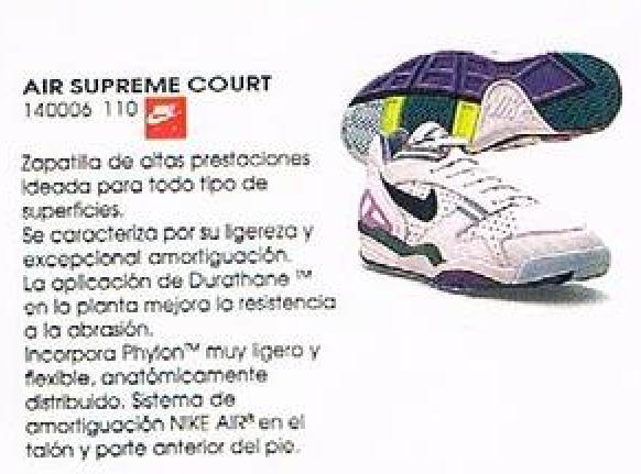 Nike Air Supreme Court 1991 Tennis Shoe