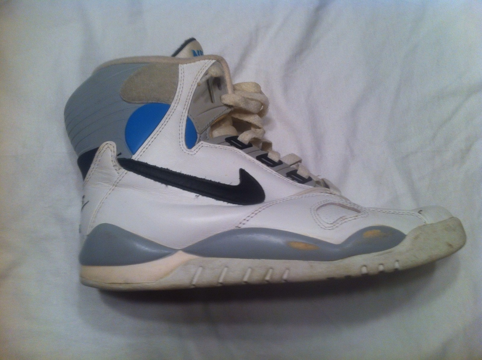 Nike Air Pressure Rare Sample White Grey Blue 1989 Defy