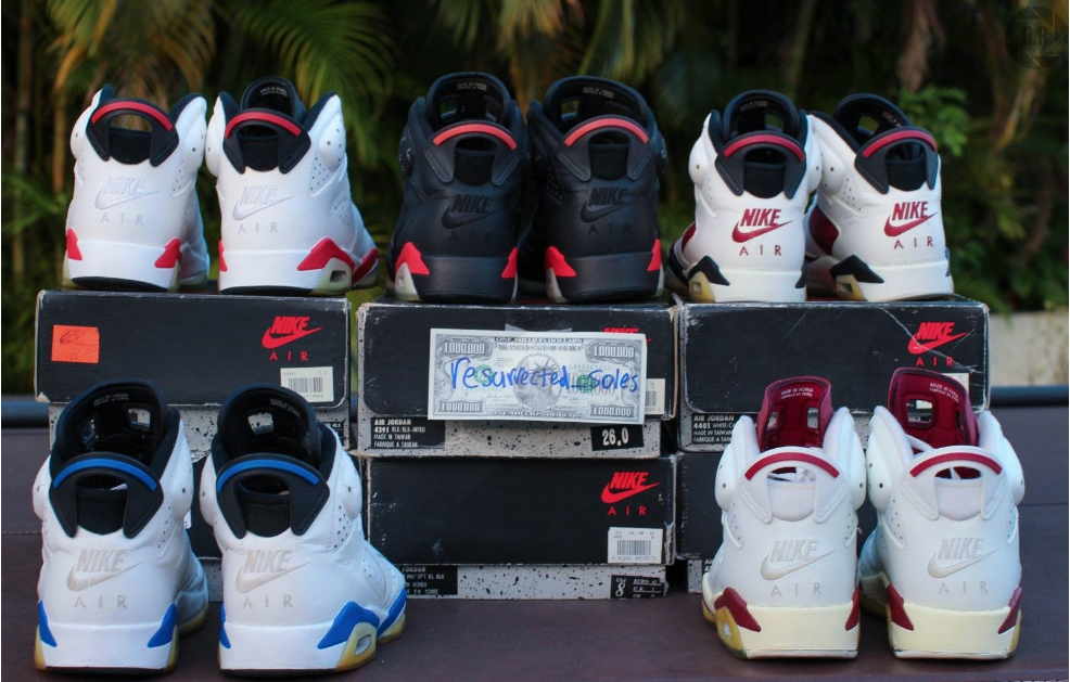 0f3101bcd34f Complete Set Of Sole Swapped Nike Air Jordan VI Hits eBay – DeFY. New  York-Sneakers