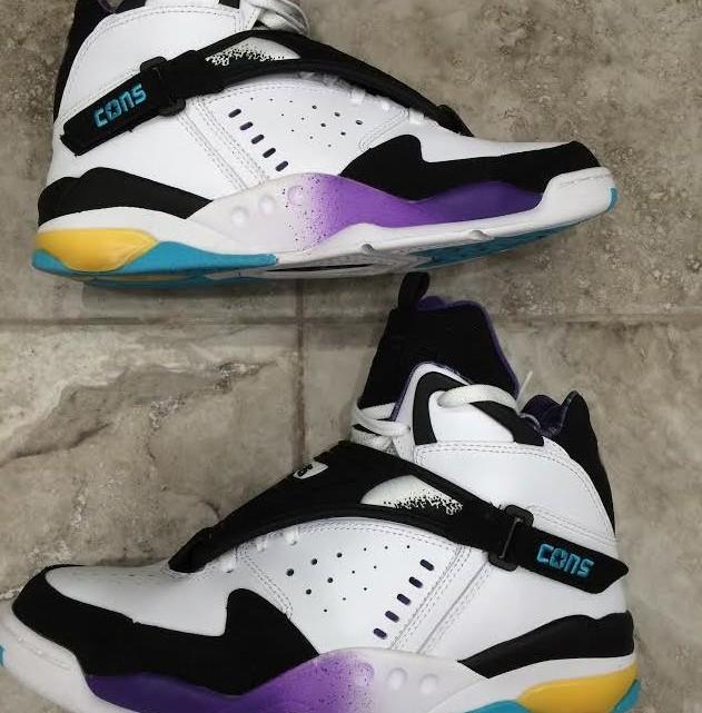 ec7ca81f59fe90 First Look  Converse Aero Jam Retro White Purple Teal Black 2014 ...