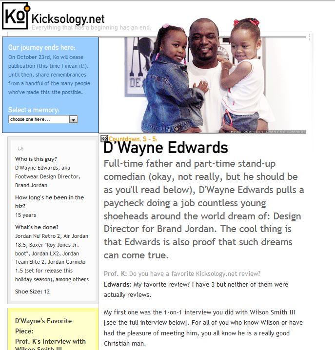kicksology.net d'wayne edwards