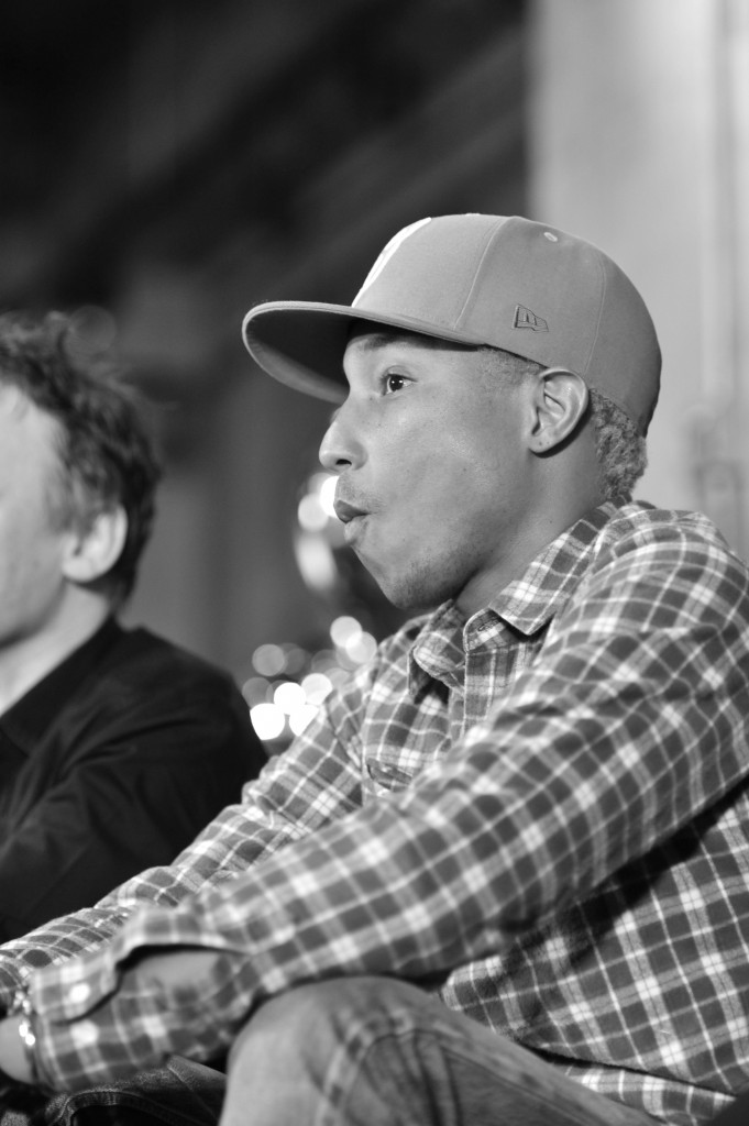 Pharrell Williams taking part in a Liberatum panel discussion_Contributor Liberatum