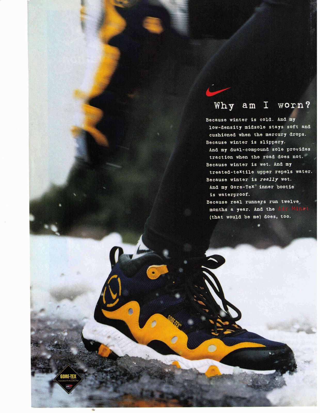 check out abacd 284ee Revisit  Nike Air Minot Gore-Tex Running Shoe 1997 – DeFY. New York ...