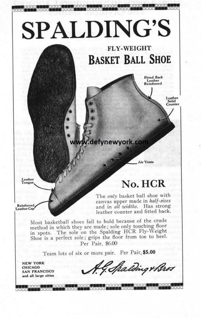 spalding 1929 basketball sneaker ad
