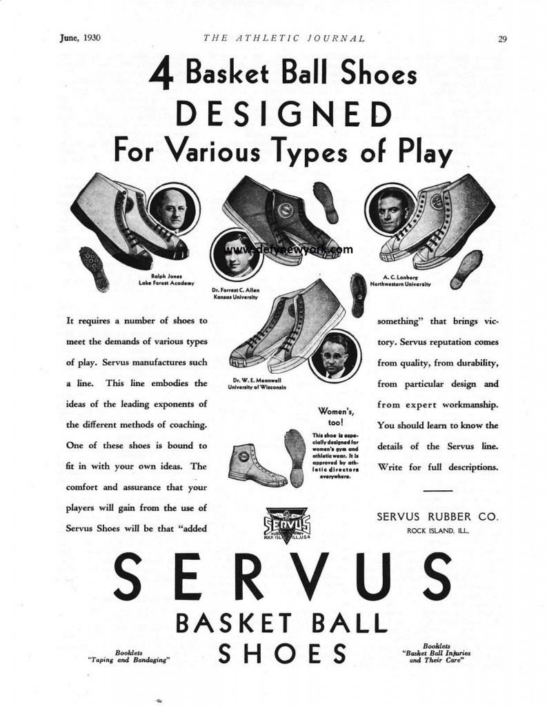 servus basketball shoes 1932