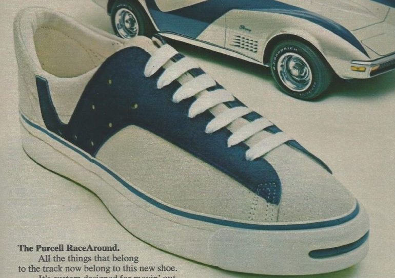 new style 1d075 b9ade B.F. Goodrich Jack Purcell RaceAround   Indy 500 Sneakers 1972