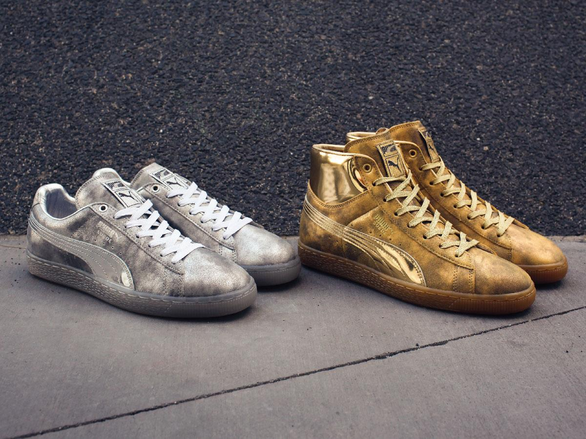ecfabff3d8c5 Meek Mills And Puma Go Gold With a 24k Puma Suede   DeFY. New York ...