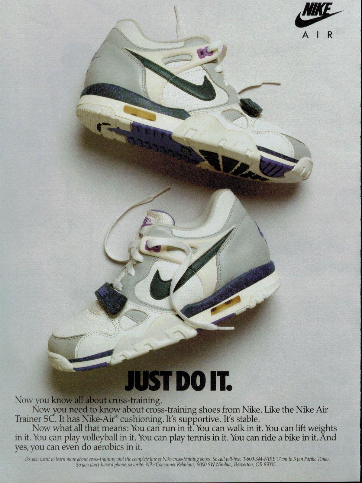 sports shoes 5e19a 292ac nike air trainer trainer sc womens 1988 ...