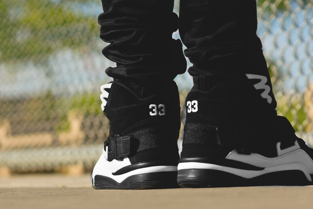 Ewing Athletics Concept Black White On Feet